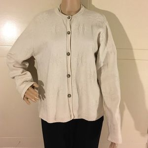 Eddie Bauer Knit Button Sweater Size Large