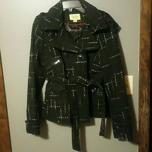 Maralyn & Me Jackets & Blazers - NWOT black hooded coat