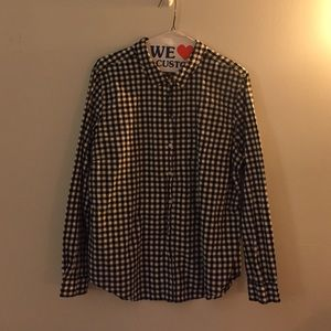 Old Navy Tops - Old Navy Black Gingham Shirt