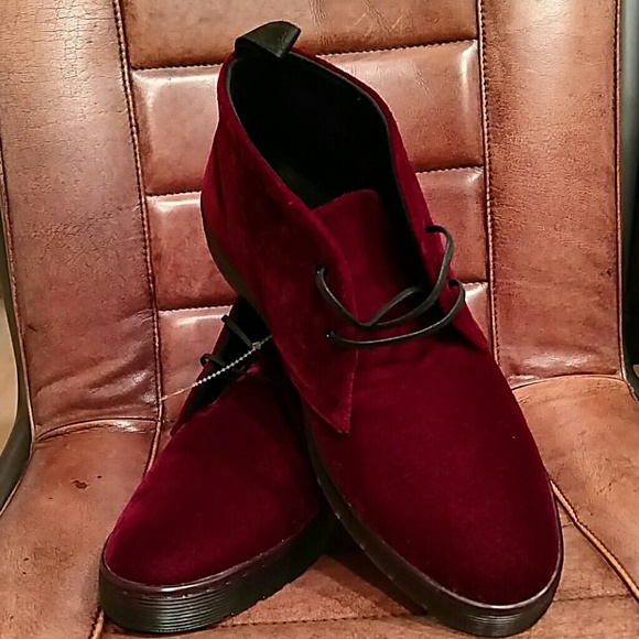 buty do biegania dobry świetna jakość Dr. Martens Daytona Velvet Burgundy Boots Men 11 NWT