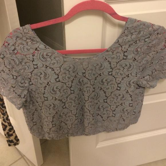 Zara Tops - Zara lace crop top