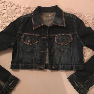 Denim rhinestone Jean Jacket!!!