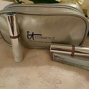 IT Cosmetics CC+ Lip Serum & Cosmetic Bag