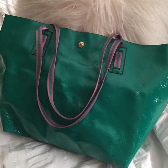 jpk paris 75 Bags   Pink And Green Leather Bag   Poshmark 72adf3b186