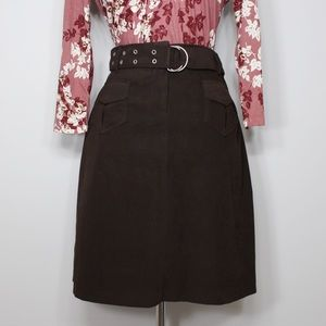 Dresses & Skirts - Vintage Brown Straight Line Skirt