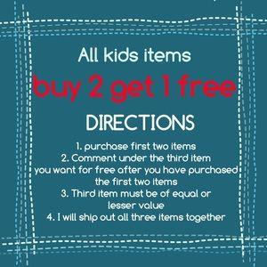 B2G1 on all kids items