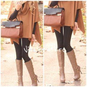 Vivacouture Pants - Essential Brown  Fleece Lined leggings