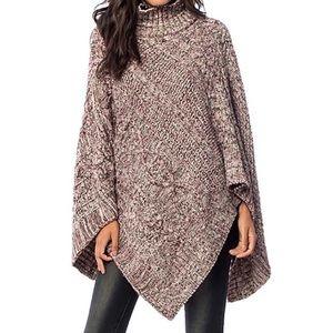 Southern Girl Fashion Accessories - SWEATER TUNIC Draped Pullover Cape Oversize Poncho