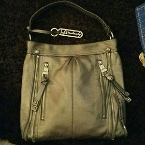 AUTHENTIC B. MAKOWSKI silver pebbled cute bag