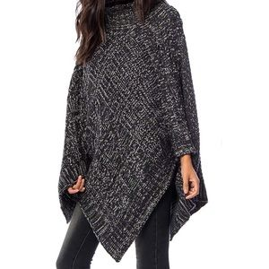 Southern Girl Fashion Accessories - SWEATER TUNIC Draped Pullover Cape Oversize Poncho