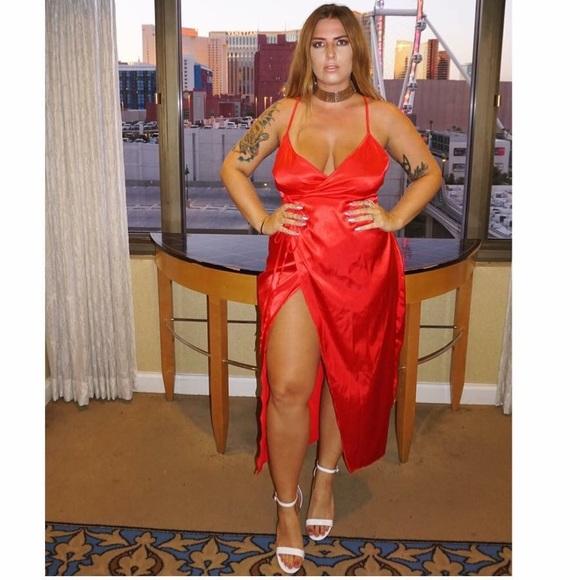 Plus Size Satin Dresses