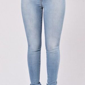 Fashion Nova Denim - Classic High Waist Jeans - Light Blue
