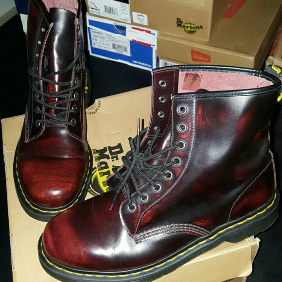 1fbd9efe5dae2 Dr. Martens Shoes   Dr Martens 1460 8 Eye Bootcherry Red Arcadia ...