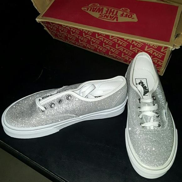 Vans Authentic Schuhe glitter silver