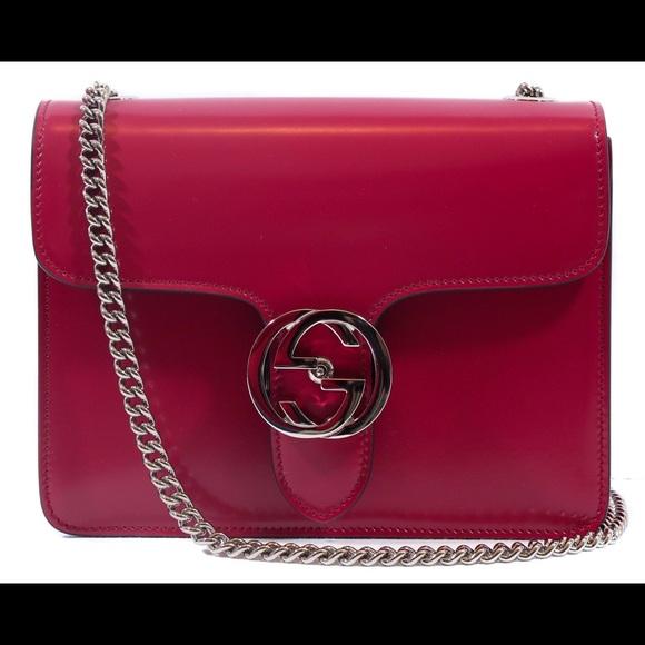 3c0ec62fa8e0 Gucci Bags | Interlocking G Leather Shoulder Bag | Poshmark