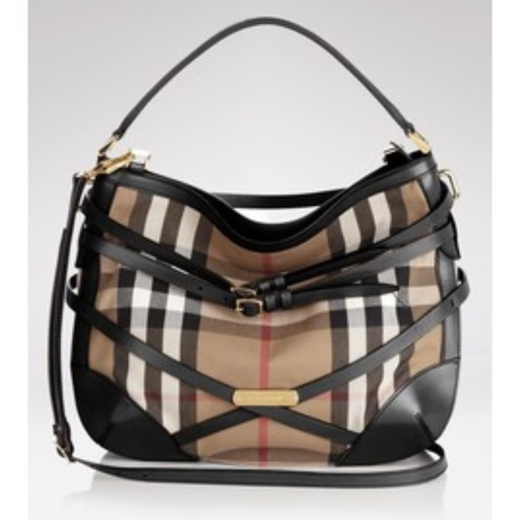 e89857c1372f Burberry Handbags - Burberry House Check Bridle Small Dutton Hobo