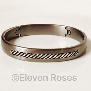 David Yurman Other - David Yurman Titanium Inset Cable Hinged Bracelet