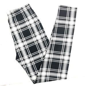 168dced0a733ef Pants | Buttery Soft Black White Plaid Leggings Plus Tc | Poshmark