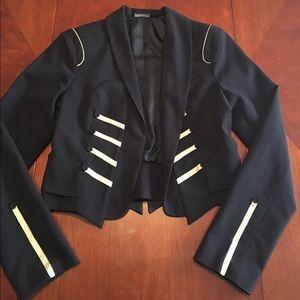 Jackets & Blazers - black and gold military blazer