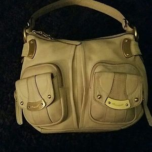 Authentic B. MAKOWSKI oatmeal colored pebbled bag