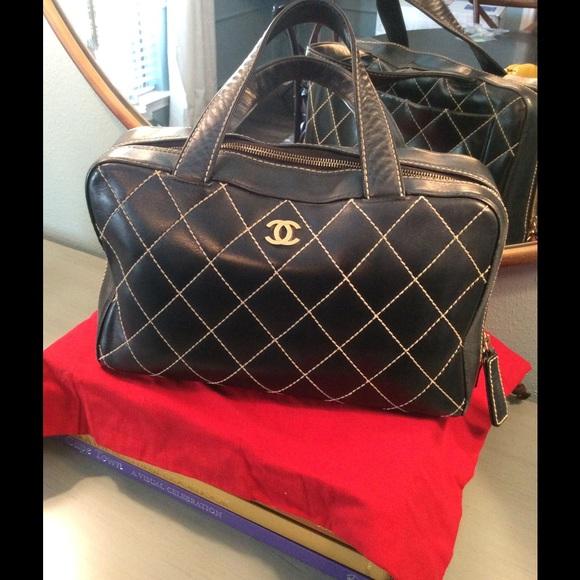 4efe18683995e6 CHANEL Handbags - Chanel Quilted Wild Stitch Boston Bowler Bag
