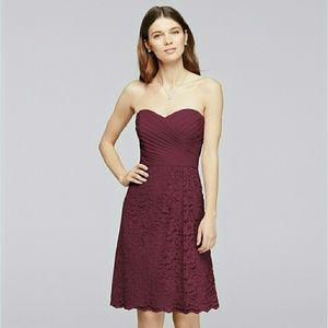 c16f51e93b0 David s Bridal Dresses - David s Bridal bridesmaid dress in the color wine