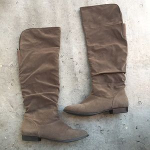 Style & Co Taupe Knee High Boots