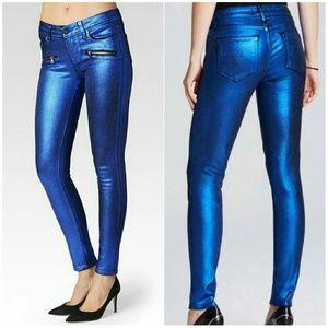 Paige Jeans Denim - Paige Ultra Skinny Metallic Jeans