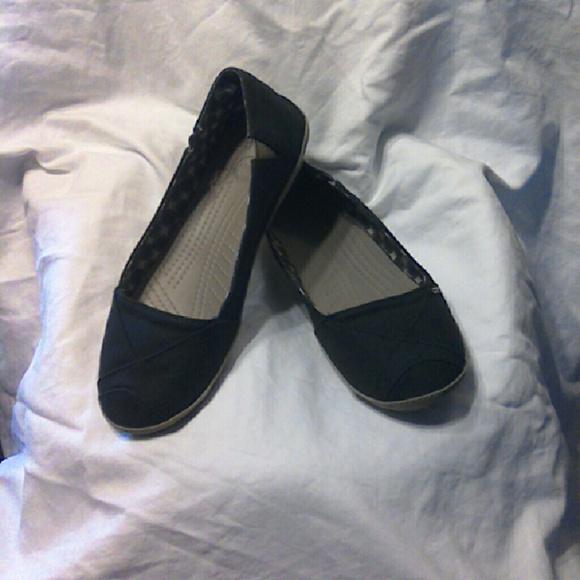 special price for marketable luxury aesthetic Crocs Angeline flat., Black & Khaki