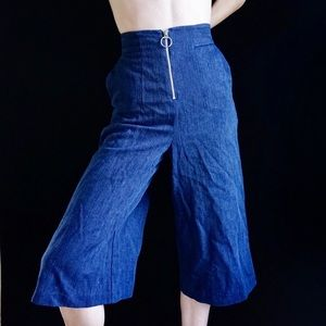 Whistles Pants - Whistles high waisted zipper culottes