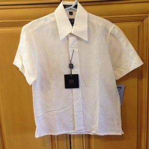 Ike Behar Other - Ike Behar white linen shirt size 5 boys