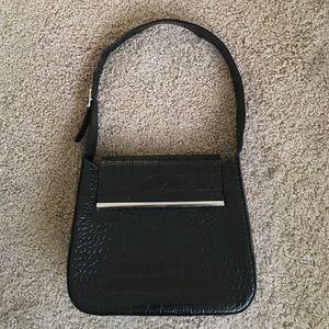 Saks 5th Avenue Italian made black leather handbag