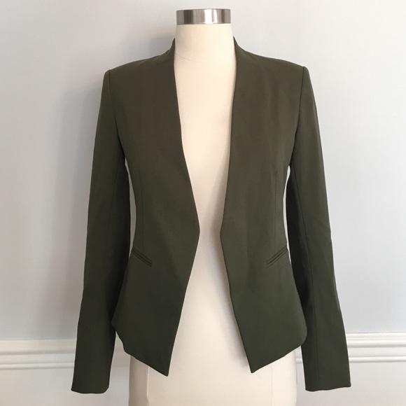d08b95013d Theory Jackets & Coats | Nwt Lanai Army Green Open Front Blazer ...