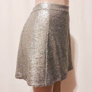 Decree Dresses & Skirts - DECREE Silver Sequins Mini Skirt