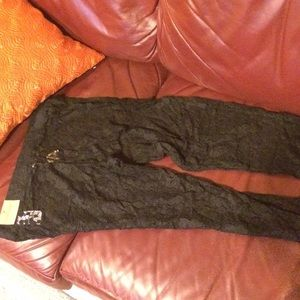 American Eagle Outfitters Pants - Black lace leggings NWT