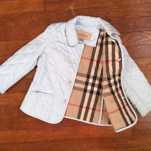 Burberry Jackets Coats Toddler Girls Baby Blue Jacket Quilted 4t