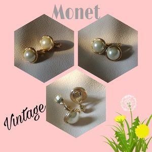 Monet Jewelry - 🆕Listing! Vintage Monet Clip-on Studs