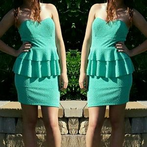 Emerald Sundae Dresses & Skirts - Sparkly green mini dress