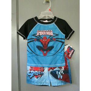 Marvel Other - NWT Boys Spiderman Swim Set 2 PC Toddler 2T