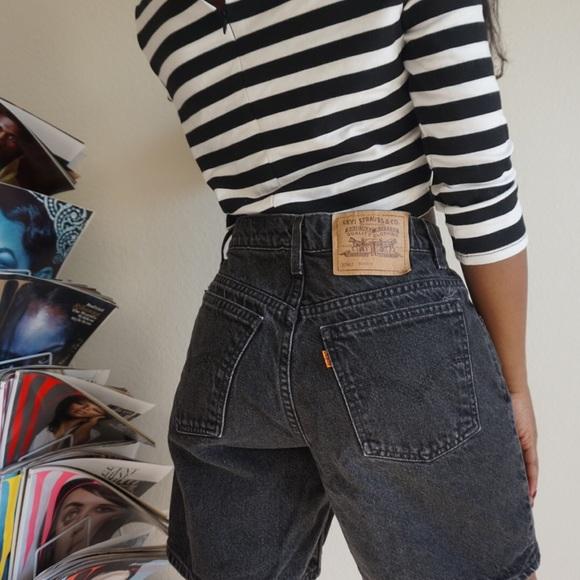 ef76ef9946 Levi's Shorts | Vintage Levis High Waist Charcoal Denim | Poshmark
