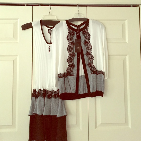 6ae29c16907ff6 tricot chic Dresses | Dress With Matching Blouse | Poshmark