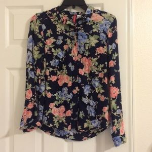 Floral Long Sleeve Button Up