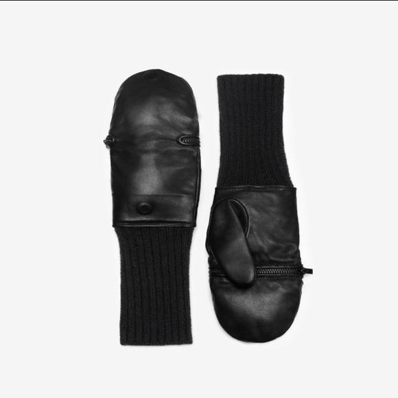 86da0fa79 kate spade Accessories | Leather Fingerless Mittens Gloves | Poshmark