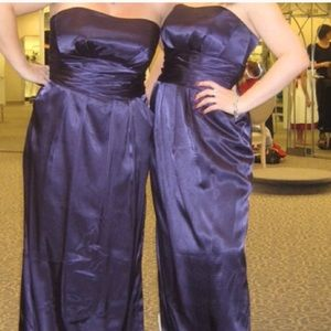 David's Bridal Dresses & Skirts - Strapless slim Charmeuse Gown