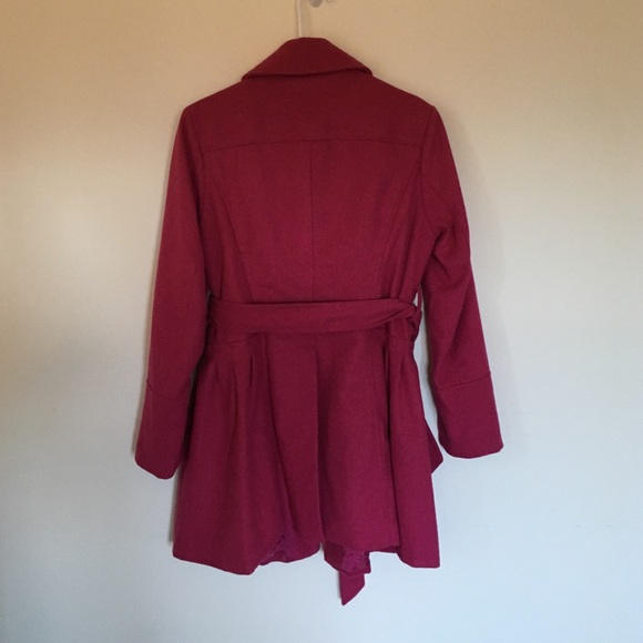 Say What? - Wool/Poly Dark Pink Coat from Lauren's closet on Poshmark