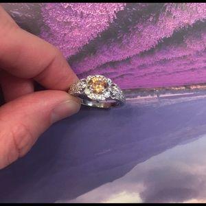 Jewelry - Swarovski Crystal Silver Ring