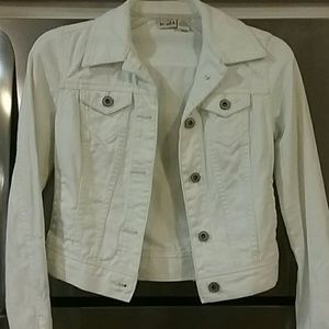 Mudd Cropped White Denim Jacket