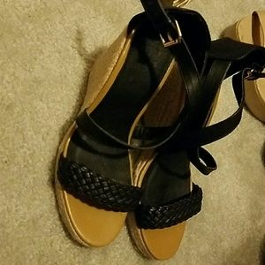 NY Collection Shoes - Black wedges
