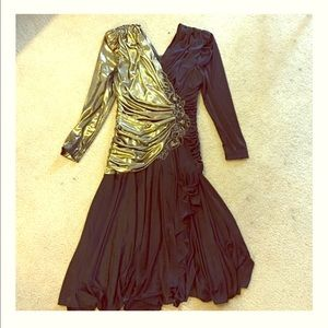 Black and gold vintage dress