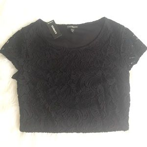 Express lace crop top NWT size XS